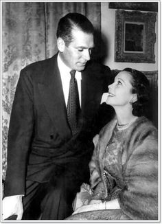 Vivien Leigh and Laurence Olivier, 1953.