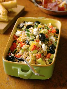 Nutrient-dense and great for lunch or dinner. Farro Salad recipe. Healthy Cooking, Healthy Eating, Cooking Recipes, Healthy Recipes, Healthy Foods, Vegan Foods, Healthy Salads, Yummy Recipes, Diet Recipes