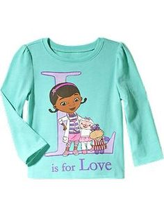 Disney© Doc McStuffins Long-Sleeved Tees for Baby