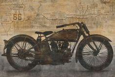VINTAGE-INDIAN-MOTORCYCLE-ART-PRINT-Ride-by-Dylan-Matthews-36x24-Bike-Poster