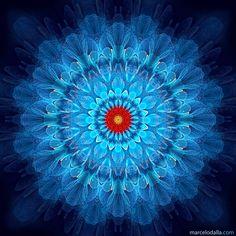 """Magical Blue"" - fractal art by Marcelo Dalla, via ManDalla Arte Visual"
