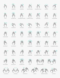 http://getcraftwork.com/free-vector-gesture-icons/ Free Vector Gesture Icons A set of more than 50 free gesture icons designer for multi-purpose devices