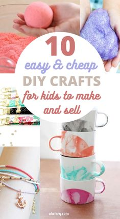 These 10 easy crafts you can make and sell online are THE BEST! Who knew there were so many great crafts for kids to sell! I'm so glad I found this AWESOME post! Now I have a plan for making money from home even as a teenager! SO pinning for later! Upcycled Crafts, Diy And Crafts Sewing, Diy Crafts To Sell, Money Making Crafts, Crafts Cheap, Sell Diy, Crafts For Sale, Best Crafts, Diy Crafts For Teen Girls