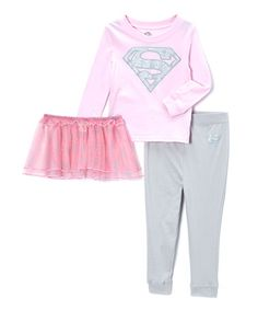 Look at this Light Pink Supergirl Pajama Set - Infant & Toddler by DC Comics Supergirl, Girly Things, Pajama Set, Tutu, Kids Fashion, Bell Sleeve Top, Cute Outfits, Infant Toddler, Lady