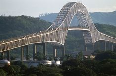 The Bridge of the Americas is a road bridge in Panama, which spans the Pacific entrance to the Panama Canal. Construction started: 1959 Total length: m Body of water: Panama Canal Location: Balboa, Panama Love Bridge, Arch Bridge, Grand Canyon Colorado, Ing Civil, Rickety Bridge, Pont Du Gard, Famous Bridges, Panama Canal, Panama City
