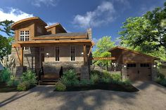 Cottage Craftsman Modern House Plan 75140