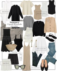 Lit Outfits, Capsule Outfits, Fashion Capsule, Fashion Outfits, Fasion, Capsule Wardrobe Work, Minimal Outfit, Cute Summer Outfits, Spring Summer Fashion