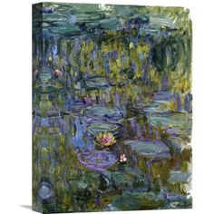 You'll love the 'Water Lilies' by Claude Monet Painting Print on Wrapped Canvas at Wayfair - Great Deals on all Décor & Pillows products with Free Shipping on most stuff, even the big stuff.