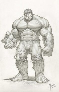 comic book artist sketches | Considered by many as the best hulk artist - Dale Keown.