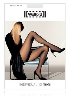 Elegant sheer tights by Wolford. The INDIVIDUAL Sheer Tights 18382 have a 10 denier appearance and a matt finish. They have an elastic waistband for comfortable fit and invisible, reinforced toe. Avai