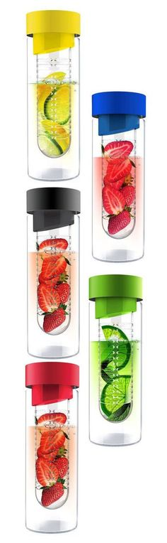 Fruit Infusing Water Bottle - I love fruit infused water! Detox Drinks, Healthy Drinks, Get Healthy, Healthy Snacks, Healthy Recipes, Health And Beauty, Health And Wellness, Fruit Infused Water, Infused Waters