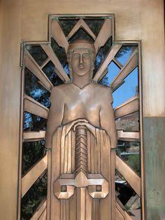 Bisbee Arizona Art Deco Court House Door