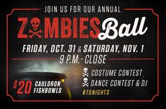Join Top Golf for two nights of Halloween fun on Friday, Oct. 31 and Saturday, Nov. 1 for their annual Zombies Ball!
