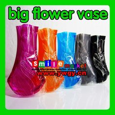 FREE SHIPPING DHL/FEDEX 100PCS/LOT FACTORY OUTLETS 1000STYLES MIX STYLE BIG SIZE 18CM*27CM FOLDABLE PLASTIC FLOWER VASE on AliExpress.com. $57.74
