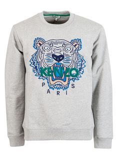Kenzo Embroidered Icon Tiger Sweatshirt In Red Kenzo, Parisian, Casual Wear, Graphic Sweatshirt, Mens Fashion, Boutique, Sweatshirts, Model, Sweaters