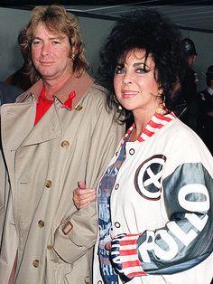 elizabeth taylor and husband larry fortensky elizabeth taylor s