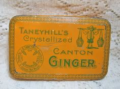 Taneyhill's Canton Ginger Colorful Tin  SOLD