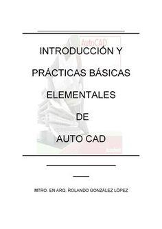 MANUAL DE PRACTICAS DE AUTOCAD