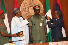 PICTURES from the decoration of Service Chiefs by Nigerian President Buhari - http://www.nollywoodfreaks.com/pictures-from-the-decoration-of-service-chiefs-by-nigerian-president-buhari/