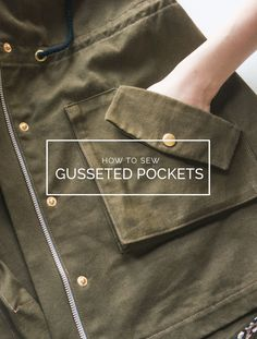 How to sew roomy 3D gusseted pockets! http://closetcasefiles.com/sew-gusseted-pockets-kelly-anorak/