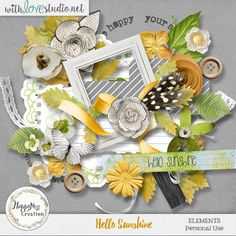 Elements pack from the collection Hello Sunshine by HappyNess Creation