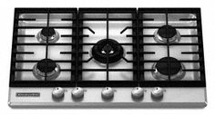 KitchenAid Architect Series II : 30 Gas Cooktop with 5 Sealed Burners - Stainless Steel Kitchenaid Architect Series, Gas Stove Top, Led Manufacturers, Kitchen Remodel, Kitchen Reno, Kitchen Dining, The Help, Cool Things To Buy, Kitchen Appliances