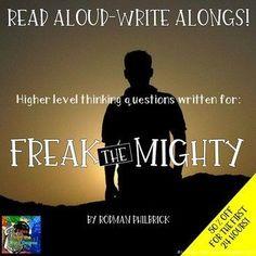 Freak the Mighty Read Aloud Write Along Book Study This Is A Book, The Book, Freak The Mighty, Ela Classroom, Classroom Ideas, Balanced Literacy, Book Study, Mystery Books, Read Aloud