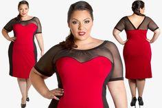 Curvalicious Clothes::Plus Size Dresses::Carmen Dress - Red/Black