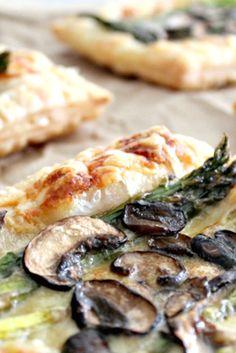 Asparagus Mushroom and Gruyere Tartlets