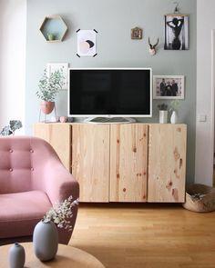 Ikea Ivar Ikea Ivar Shelves, Ikea Ivar Cabinet, Ikea Dinning Room, Ikea Tv Stand, Welcome To My House, Living Room Tv, Living Area, Apartment Design, Decoration