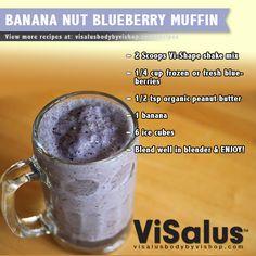 Banana Nut Blueberry Muffin Shake! #bodybyvi