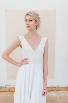 Bridalwear handmade with love in Austria Rock, Austria, White Dress, Bridal, Wedding Dresses, Handmade, Fashion, Hand Sewn, Dress Wedding
