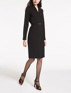 Vestido de granité de pura lana