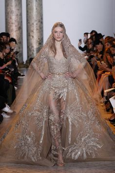 WedLuxe – Elie Saab – Haute Couture S/S 2017 | Follow @WedLuxe for more wedding inspiration!