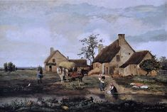 "Corot 1831,Ferme du Morvan dans la Nièvre"","