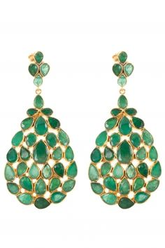 gold plated #emerald #earrings I designed for NEW ONE I NEWONE-SHOP.COM