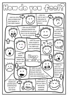 Feeling faces printable coloring sheet Counseling