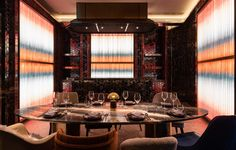 Get amazed by the list of the best luxury interior design projects by Joyce Wang Studio. Contemporary Interior Design, Luxury Interior Design, Best Interior, Modern Design, Luxury Restaurant, Restaurant Design, Restaurant Bar, Private Dining Room, Top Interior Designers
