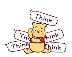 LINE Official Stickers - Animated Winnie the Pooh Speech Balloons Example with GIF Animation