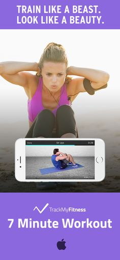 Stop spending your valuable time searching for ab workouts… Get toned abs faster using 7 Minute Workout's progress and calories burned tracking. Keep it fresh with new ab exercise videos updated weekly! #trackmyfitness