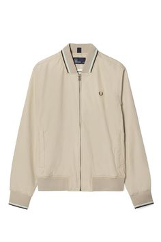 Fred Perry - Twin Tipped Bomber Jacket Oyster 30489afa6