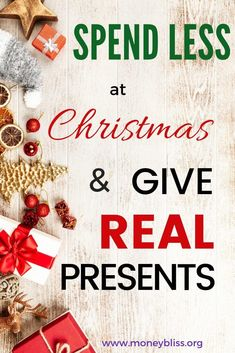Saving money and Christmas - do those two words go together? Learn how to give awesome gifts for everyone your list and spend less. Find the perfect present and stick to your Christmas budget. #gifts #Christmas #moneybliss