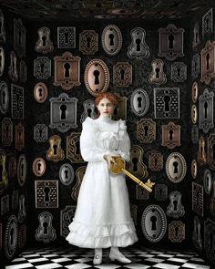 Beth Conklin - Mixed Media & Digital Art - 'So many locks' Digital Collage, Collage Art, Collages, Digital Art, Illustrations, Illustration Art, Poesia Visual, Ephemeral Art, Paul Gauguin