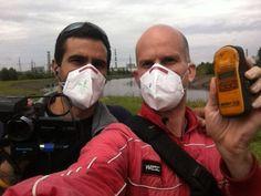 Steve Priovolos (left) and Leon Logothetis at Chernobyl, Ukraine.