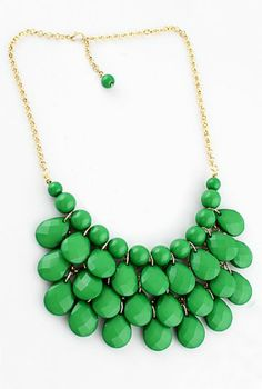 Charming Style Shine Green Beads Necklace pictures