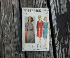 Butterick 3825 1960s 60s Mod Mini Dress & by EleanorMeriwether