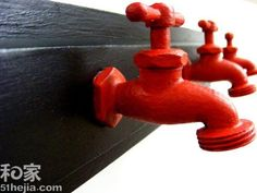from taps to coat rack, love this for a mud room or laundry room.