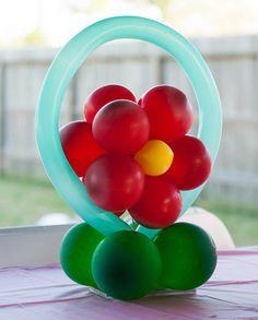 Flower balloons centerpiece