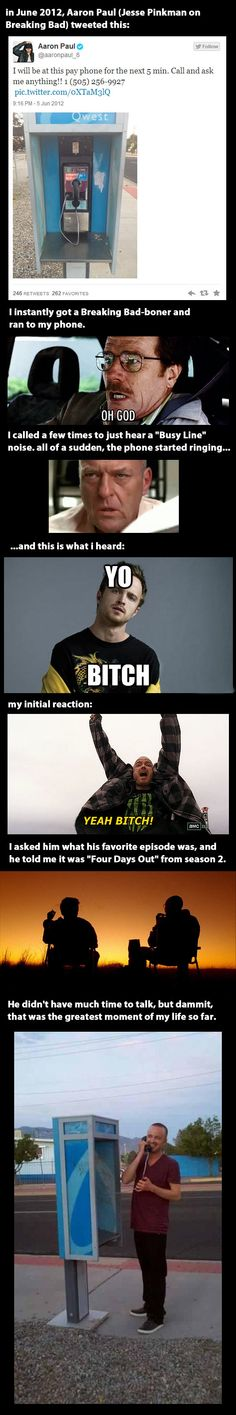 The day I talked to Jesse Pinkman…