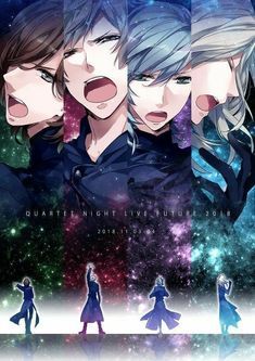 Quartet Night Cute Anime Guys, Anime Love, Manhwa, Uta No Prince Sama, Nanami, Japanese Men, Diabolik Lovers, Anime Artwork, Anime Shows